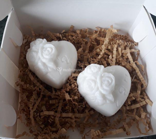 Jabones de corazones 60 gramos