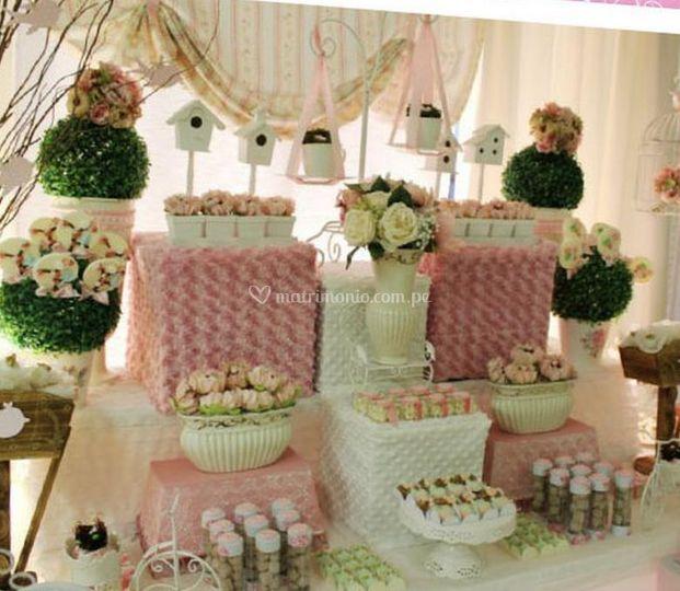 Personalización en la mesa de dulces