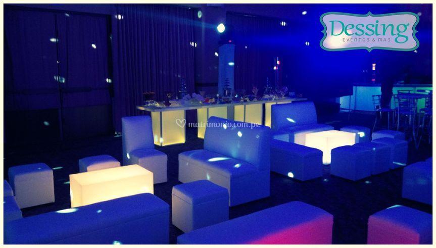 Salas lounge de noche