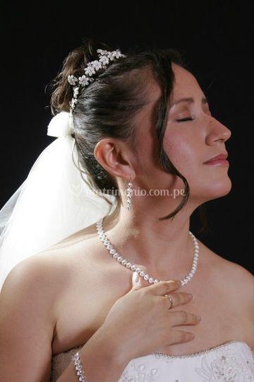 Detalles de fotografía novia