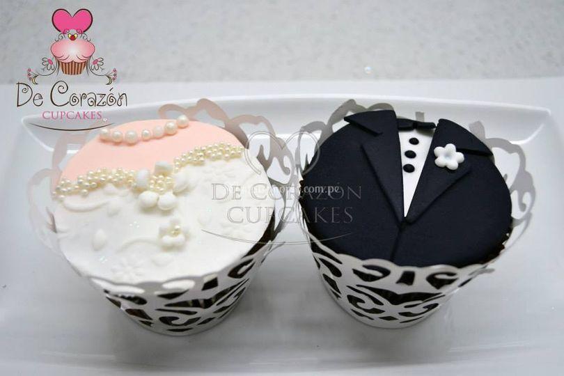 Cupcakes de novios