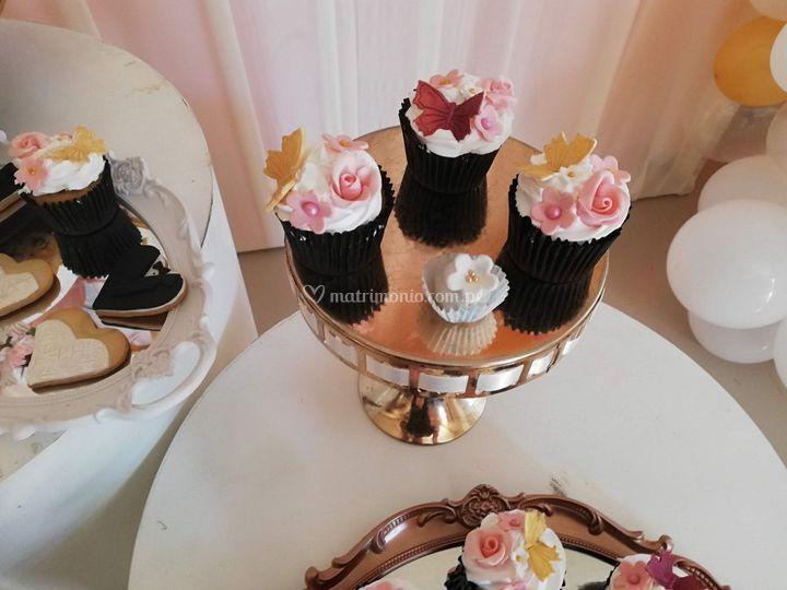 Cupcake para matrimonio