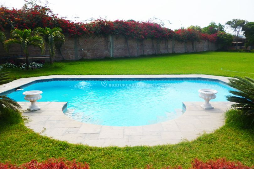 Amplia piscina para invitados