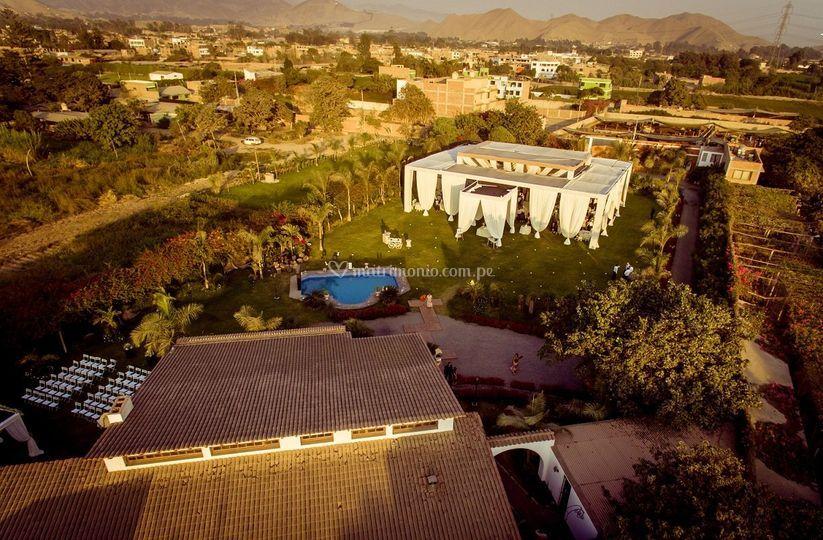 Vista panorámica casa pretelli