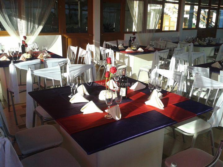 Distribución de las mesas