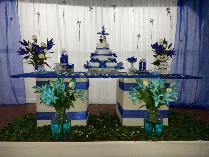 La mesa de la torta
