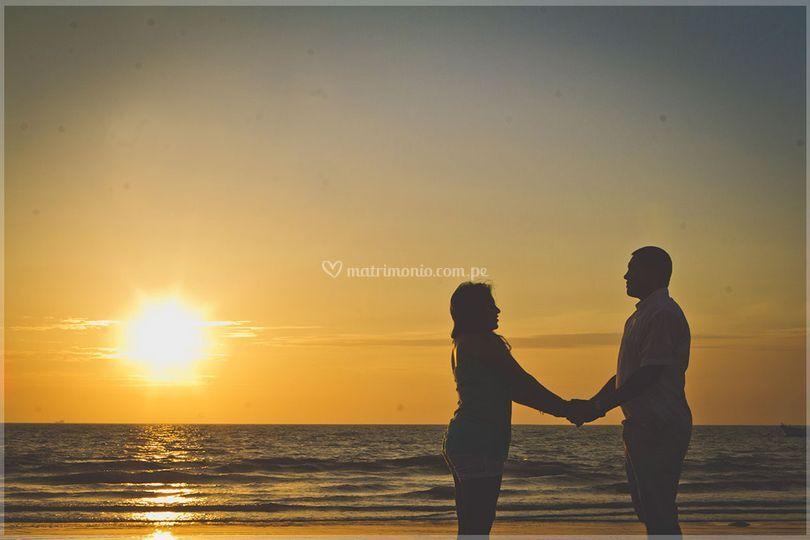Pre-boda en la playa
