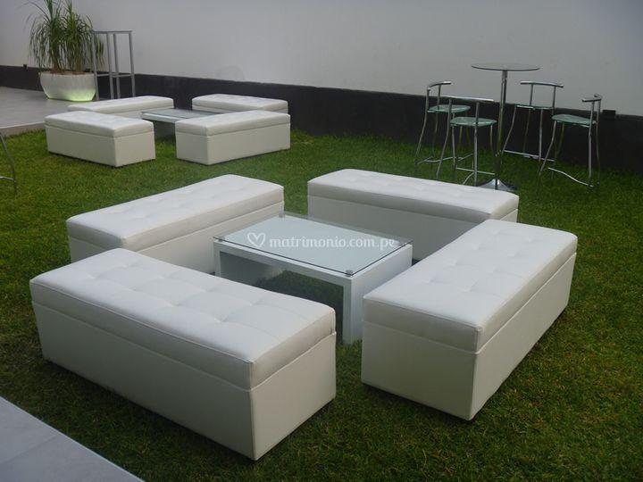 Salas lounge, banquetas