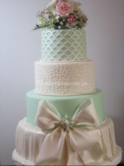 Torta en color menta
