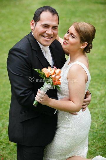Aracely, feliz el día de su boda