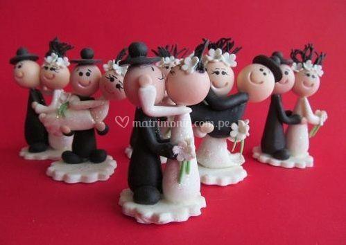 Novios de cerámica al frió