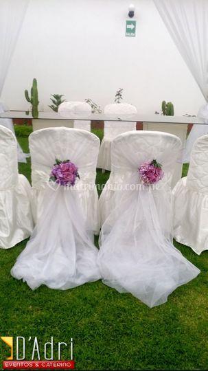 Sillas para ceremonia