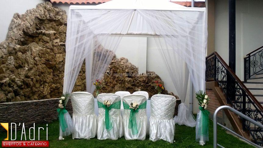 Glorieta para ceremonia