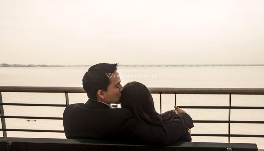 Descansando con su amada