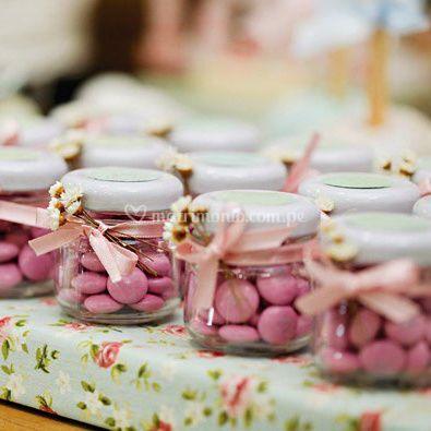 Frascos con dulces