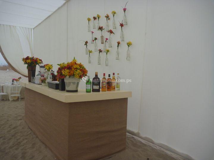 Bar en playa