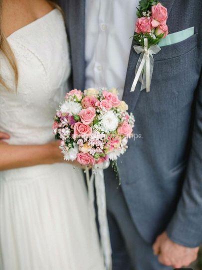 Bouquet religioso y boutonier