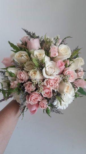 Bouquet en tonos pasteles