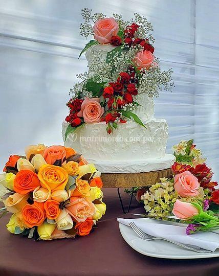 Decoración de mesa de torta