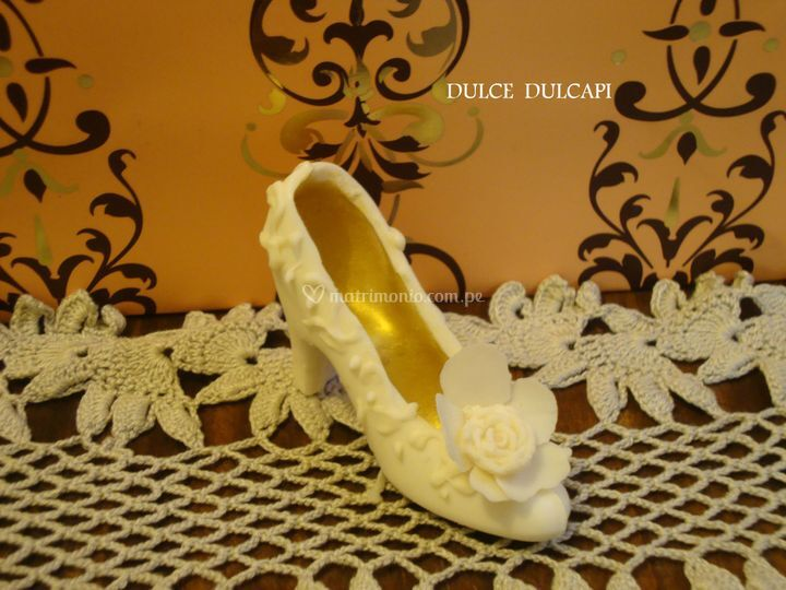 Zapato princesa de chocolate
