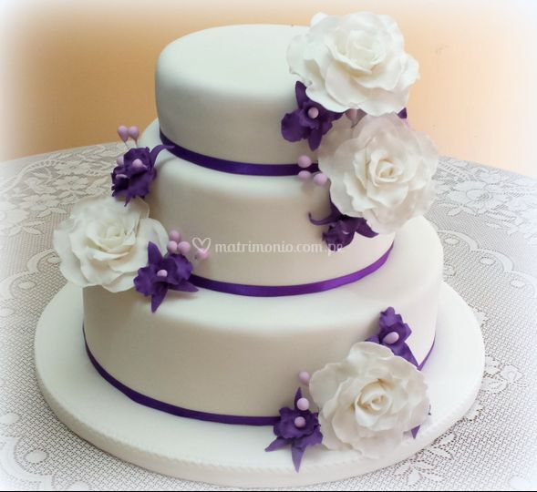 Torta rosas y orquideas