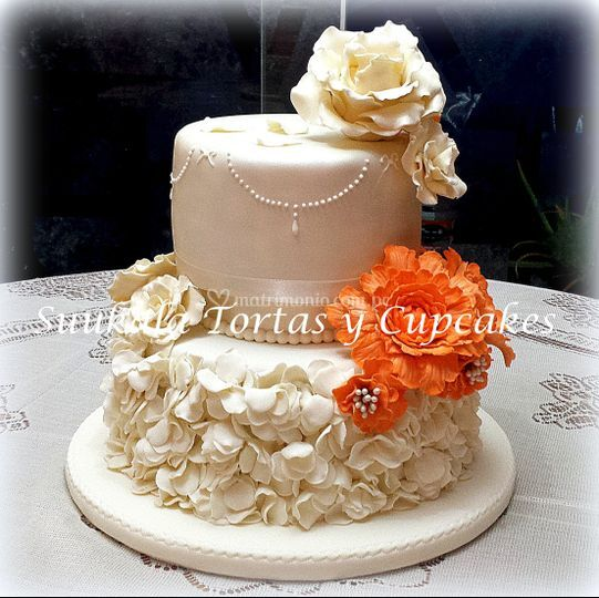 Torta romántica ruffle/peonia