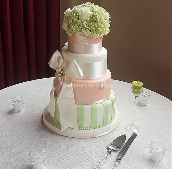 Torta verde melos pastel lazo