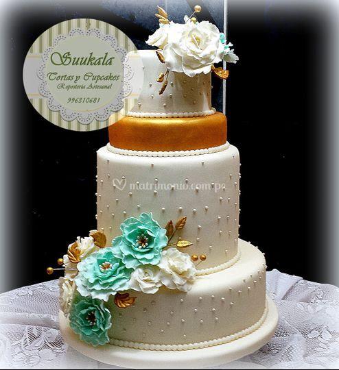 Torta angélica dorada