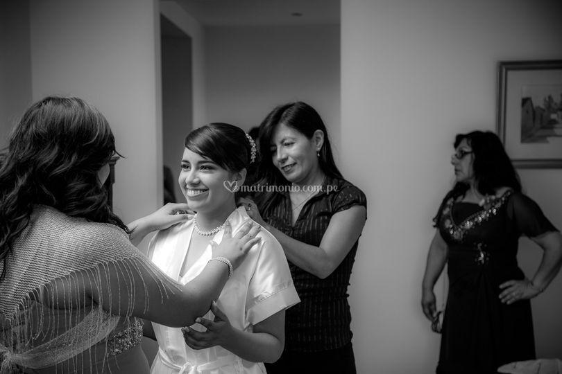 Alistando a la novia