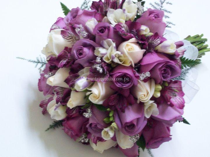 Rosas color lila