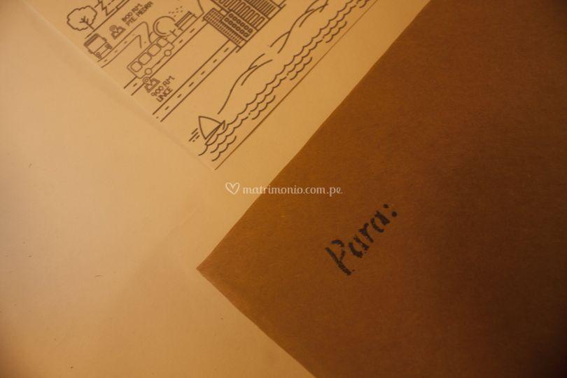 Inscripción artesanal