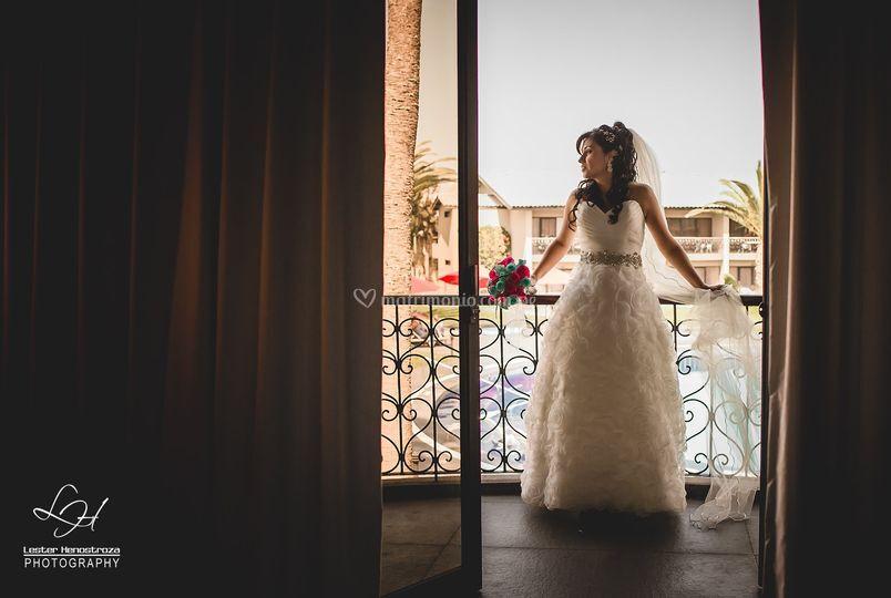 Sesión en hotel novia