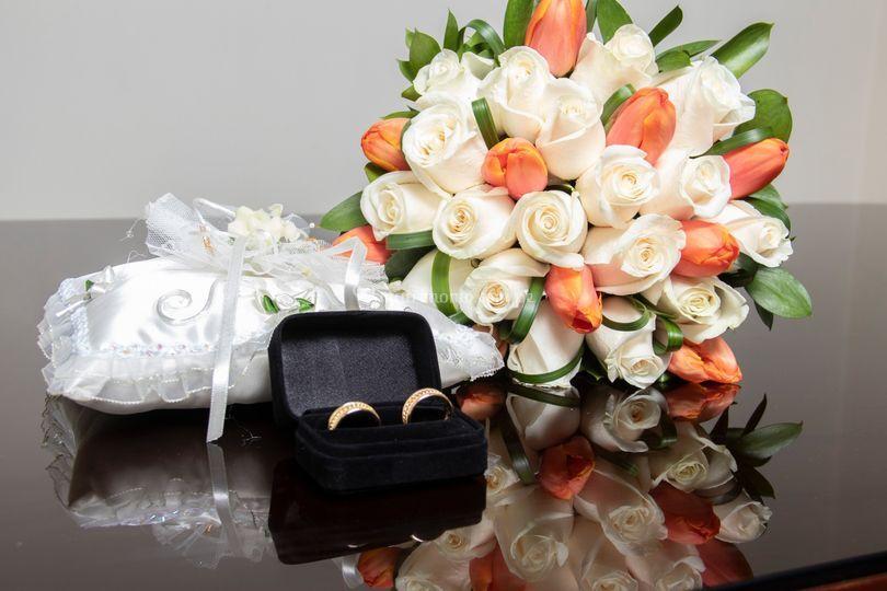 Bouquets, alianzas para bodas