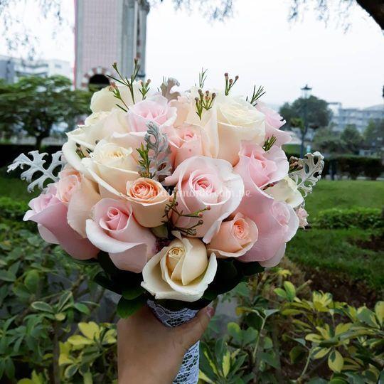 Bouquet tonos pasteles