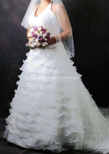 Vestido color Ivory