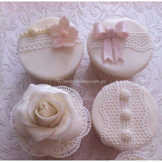 Cupcakes con técnica sugarveil