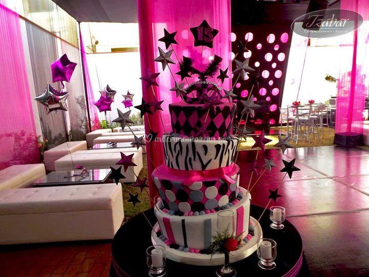 Torta loca  para quinceaños