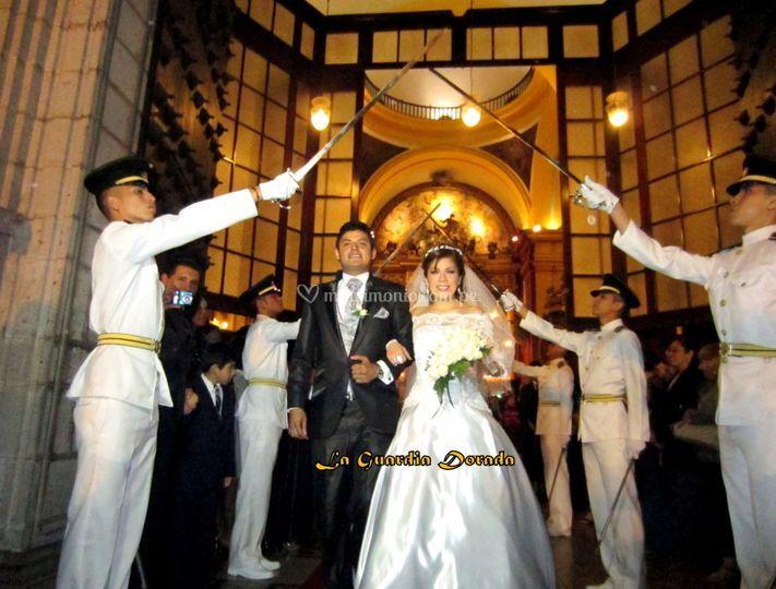 La salida de la novia