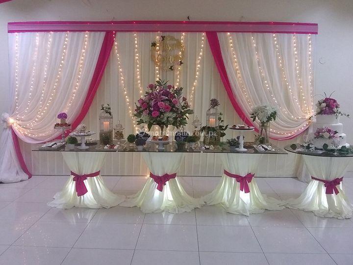 Mesa dulce para novios
