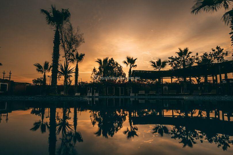 Sunset en la piscina