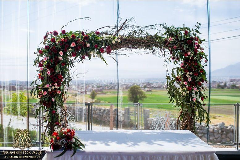 Arco de flores paramatrimonio