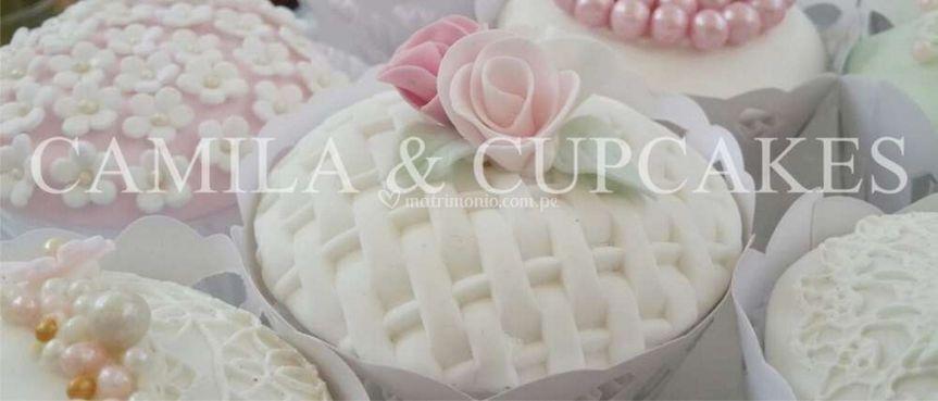 Cupcakes con acabado vintage
