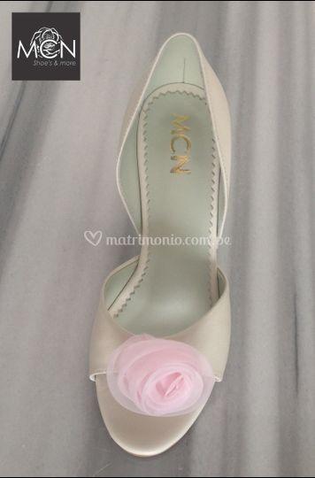 Zapato de novia cuero hueso