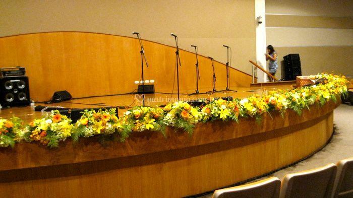 Decoración del escenario