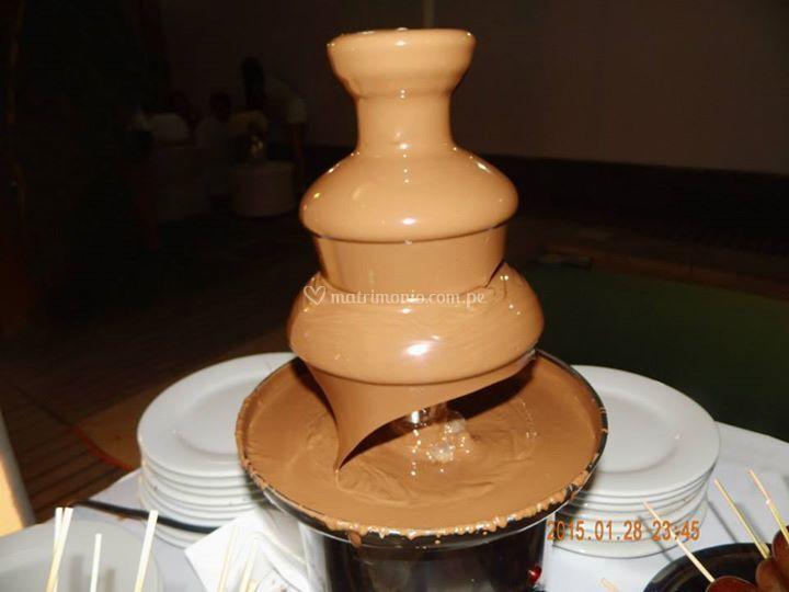 Pileta de chocolate