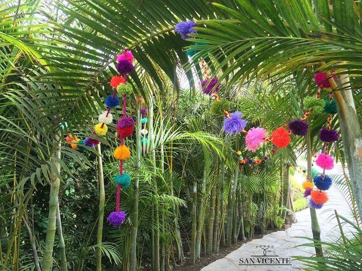 Bonita y colorida decoración