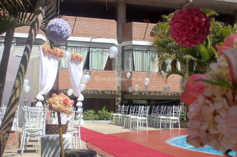 Pergola para boda civil