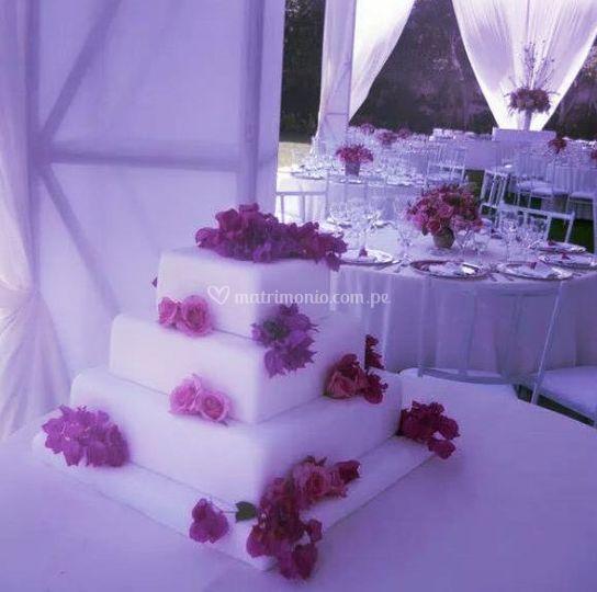 La torta de su boda