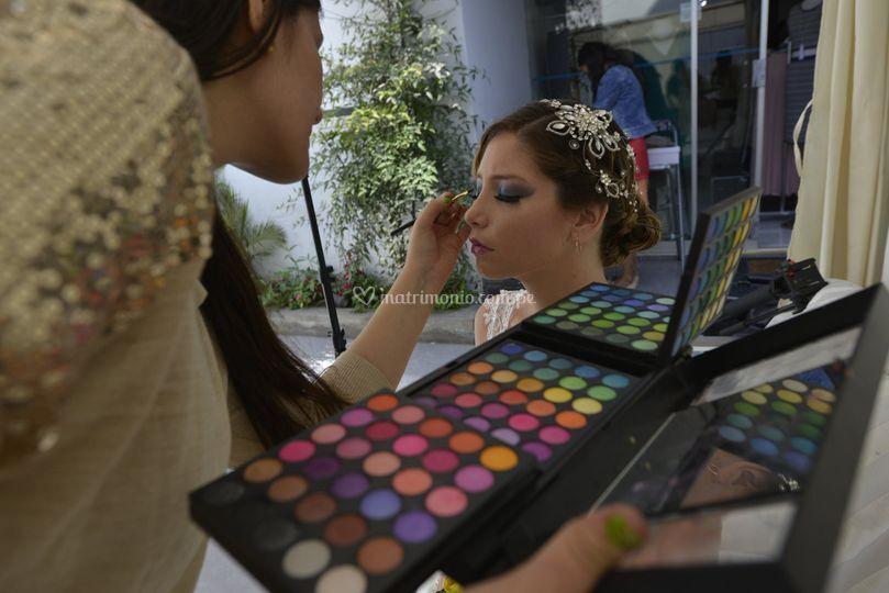 Maquillaje de ojos para novia