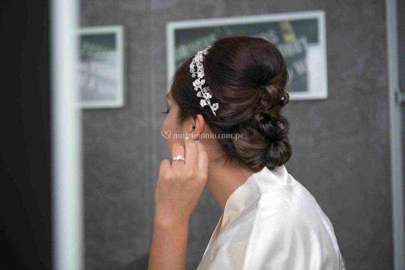Peinados modernos para novia